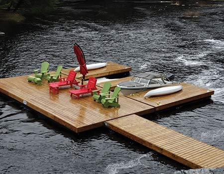 Floating Boat Dock Customised Decked Dock
