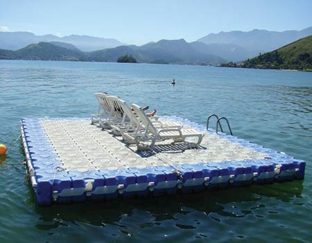 Floating Boat Dock Lake Swimming Dock